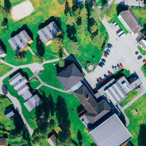 Dronefoto av Sagavoll